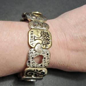 Jewelry - Silver and gold tone life bracelet